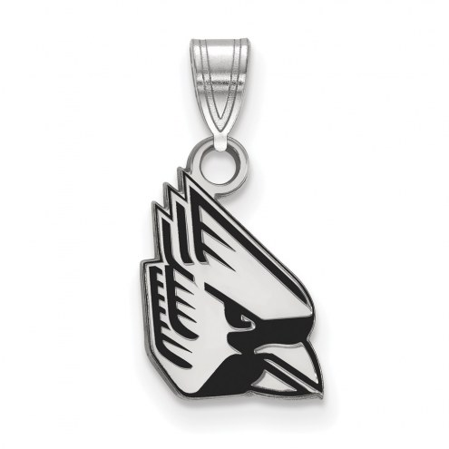 Ball State Cardinals Sterling Silver Small Enamel Pendant