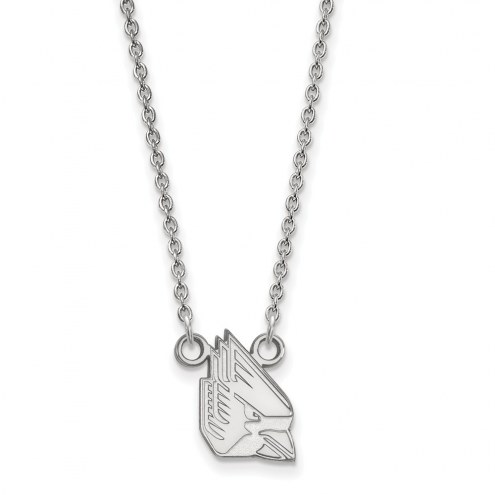 Ball State Cardinals Sterling Silver Small Pendant Necklace
