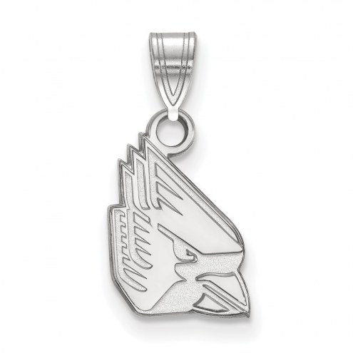 Ball State Cardinals Sterling Silver Small Pendant