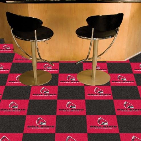 Ball State Cardinals Team Carpet Tiles