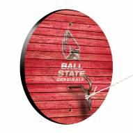 Ball State Cardinals Weathered Design Hook & Ring Game