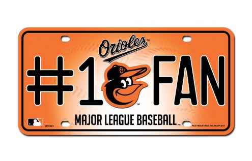 Baltimore Orioles #1 Fan License Plate