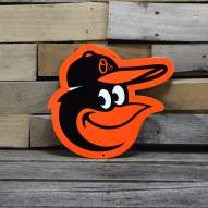 "Baltimore Orioles 12"" Steel Logo Sign"