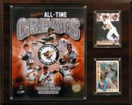 """Baltimore Orioles 12"""" x 15"""" All-Time Great Photo Plaque"""