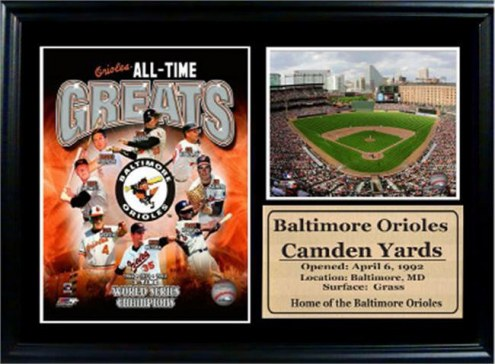 "Baltimore Orioles 12"" x 18"" Greats Photo Stat Frame"