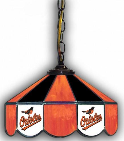 """Baltimore Orioles 14"""" Glass Pub Lamp"""