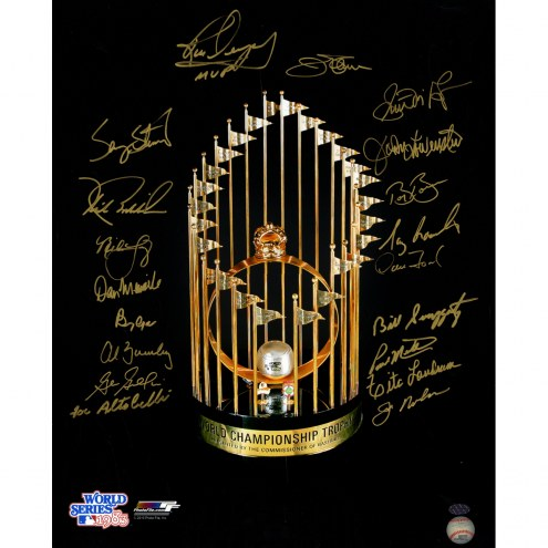 """Baltimore Orioles 1983 World Series Champs Signed 16"""" x 20"""" Photo"""