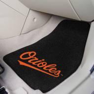 Baltimore Orioles 2-Piece Carpet Car Mats