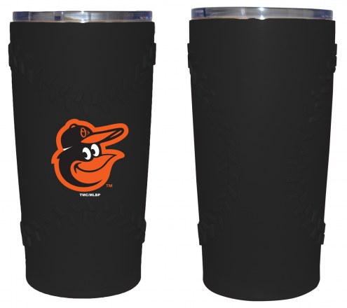 Baltimore Orioles 20 oz. Stainless Steel Tumbler with Silicone Wrap