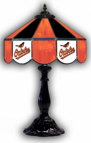 """Baltimore Orioles 21"""" Glass Table Lamp"""
