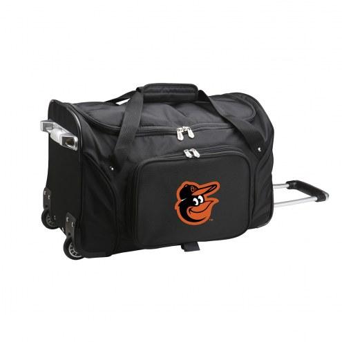 "Baltimore Orioles 22"" Rolling Duffle Bag"