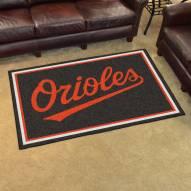 Baltimore Orioles 4' x 6' Area Rug