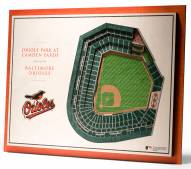 Baltimore Orioles 5-Layer StadiumViews 3D Wall Art