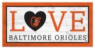 "Baltimore Orioles 6"" x 12"" Love Sign"