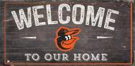 """Baltimore Orioles 6"""" x 12"""" Welcome Sign"""