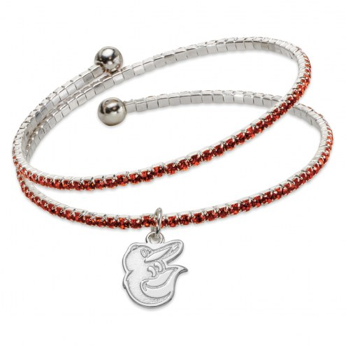 Baltimore Orioles Amped Logo Crystal Bracelet