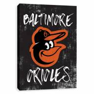 Baltimore Orioles Grunge Printed Canvas