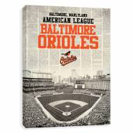 Baltimore Orioles Newspaper Stadium Printed Canvas