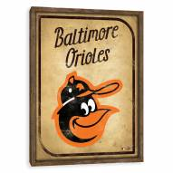 Baltimore Orioles Vintage Card Recessed Box Wall Decor