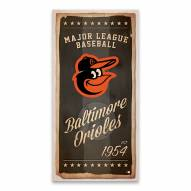 Baltimore Orioles Watercolor Printed Canvas