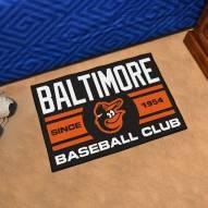 Baltimore Orioles Baseball Club Starter Rug