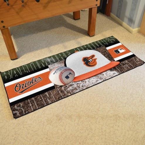 Baltimore Orioles Baseball Runner Rug