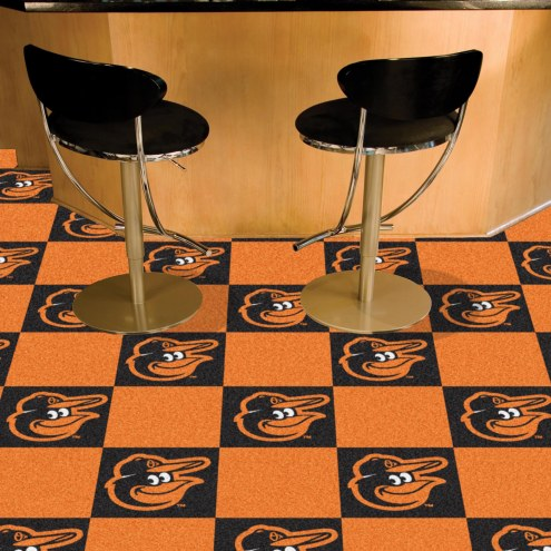 Baltimore Orioles Bird Team Carpet Tiles