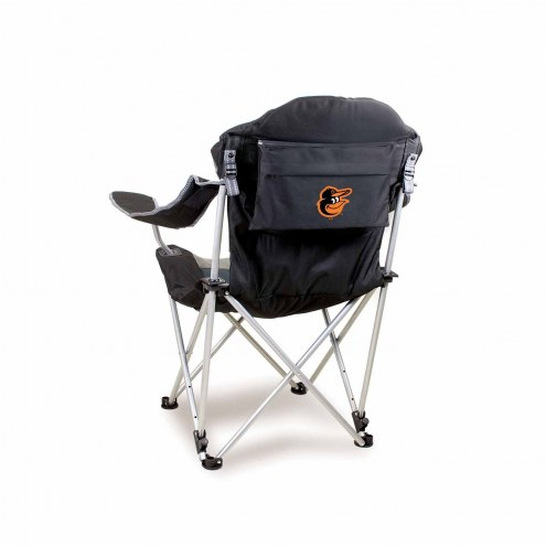 Baltimore Orioles Black Reclining Camp Chair