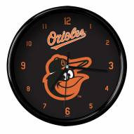 Baltimore Orioles Black Rim Clock