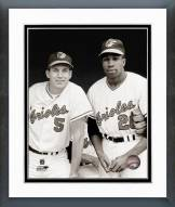 Baltimore Orioles Brooks Robinson and Frank Robinson Framed Photo