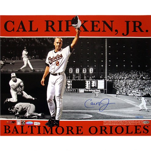 "Baltimore Orioles Cal Ripken Jr. Collage Signed 16"" x 20"" Photo"