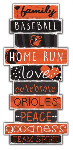 Baltimore Orioles Celebrations Stack Sign