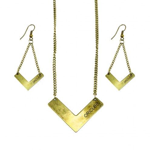 Baltimore Orioles Chevron Jewelry Set