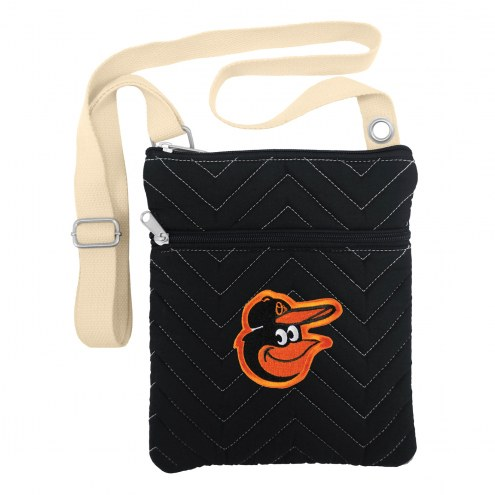 Baltimore Orioles Chevron Stitch Crossbody Bag