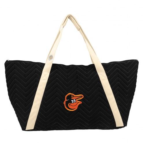 Baltimore Orioles Chevron Stitch Weekender Bag