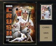 "Baltimore Orioles Chris Davis 12"" x 15"" Player Plaque"