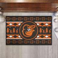 Baltimore Orioles Christmas Sweater Starter Rug