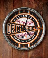Baltimore Orioles Chrome Wall Clock