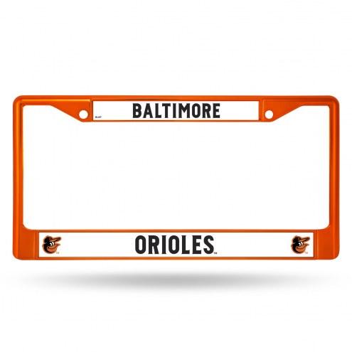 Baltimore Orioles Color Metal License Plate Frame