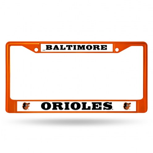 Baltimore Orioles Colored Chrome License Plate Frame
