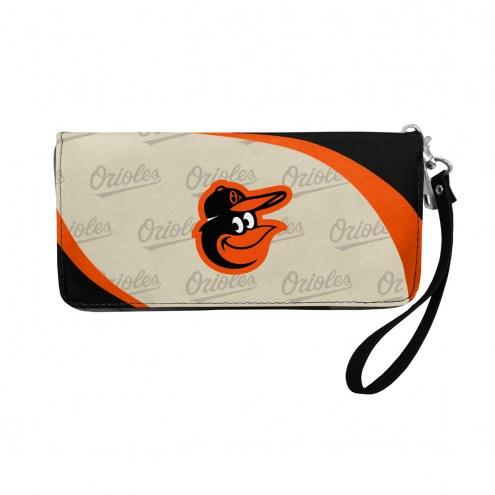 Baltimore Orioles Curve Zip Organizer Wallet