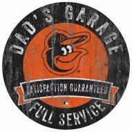 Baltimore Orioles Dad's Garage Sign