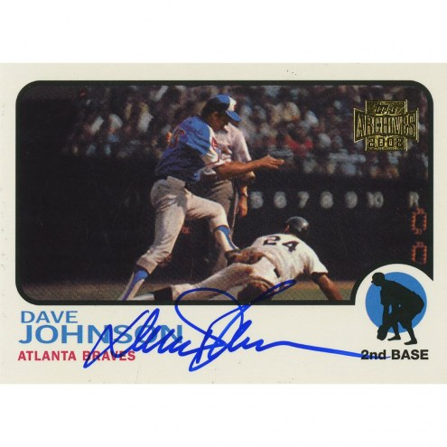 Baltimore Orioles Dave Johnson Signed 2002 Topps Card