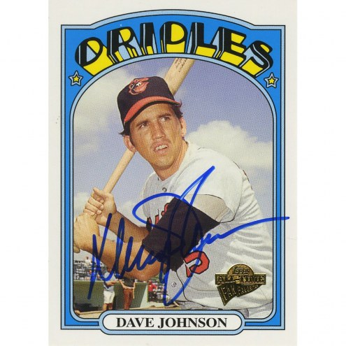 Baltimore Orioles Davey Johnson Signed 2005 Topps Card - All time fan favorites