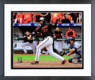 Baltimore Orioles Delmon Young AL Division Series Framed Photo