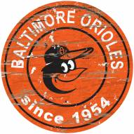 Baltimore Orioles Distressed Round Sign