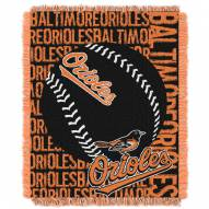 Baltimore Orioles Double Play Jacquard Throw Blanket