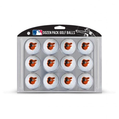 Baltimore Orioles Dozen Golf Balls