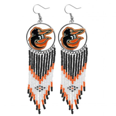 Baltimore Orioles Dreamcatcher Earrings