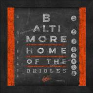 Baltimore Orioles Eye Chart